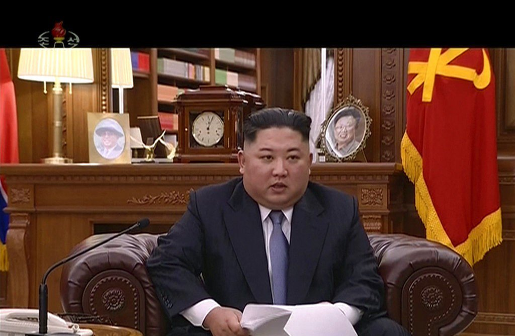 北韓領導人金正恩元旦發表談話,表示他隨時準備與美國總統川普會談。美聯社