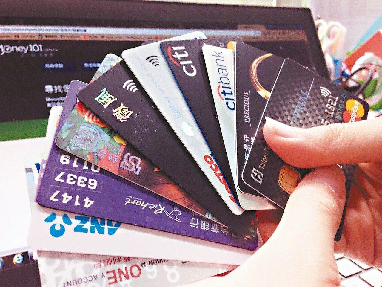 國銀信用卡2018年前九大流通卡銀行排名變化不大。 (本報系資料庫)