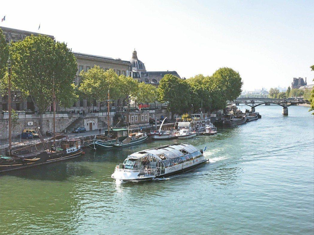巴黎塞納河岸風光。本報系資料照