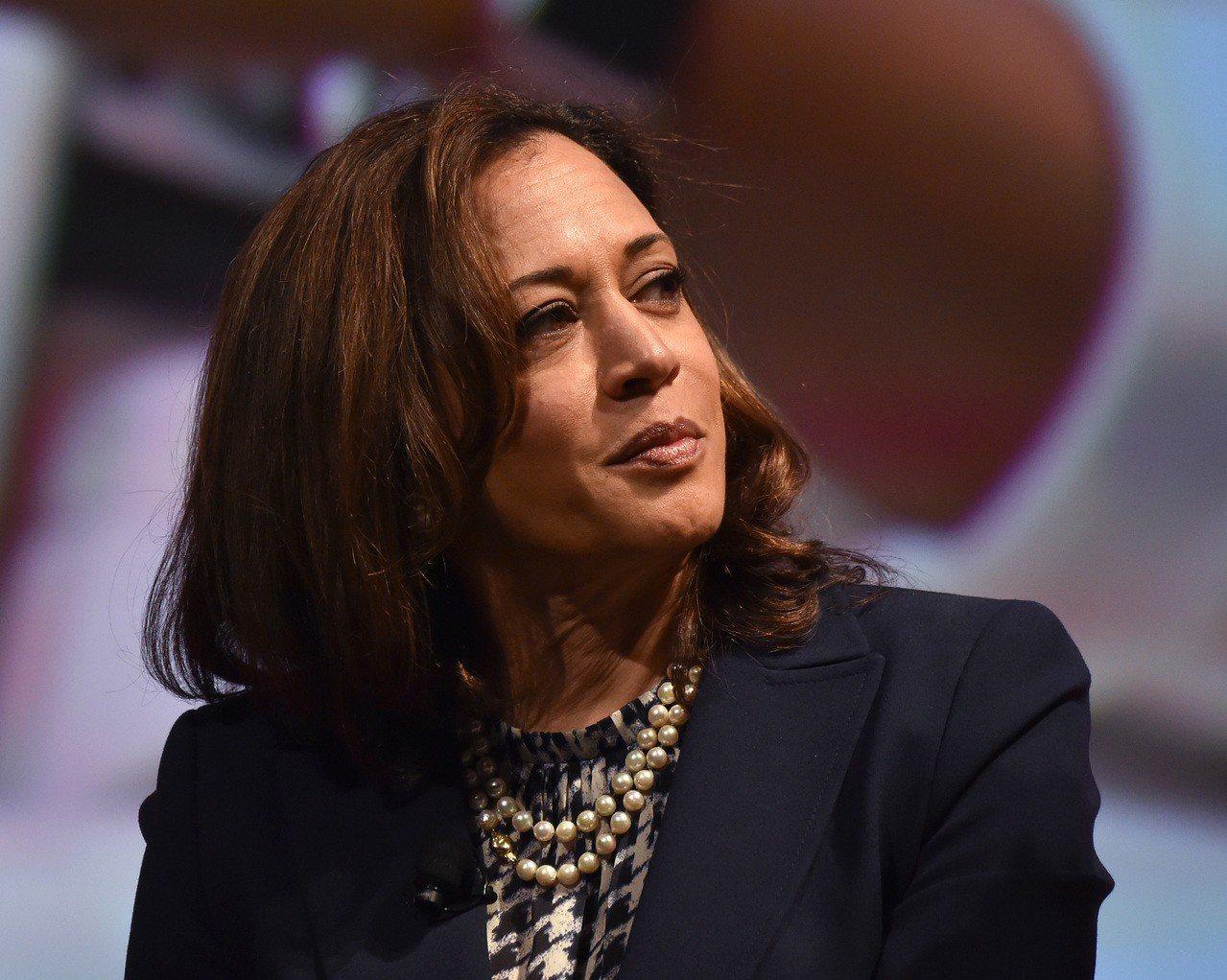 Kamala Harris考慮參選2020。 世界日報記者廖宜怡/翻攝