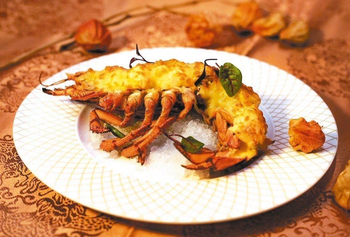 春節限定焗烤波士頓龍蝦主餐。 綠舞觀光飯店/提供