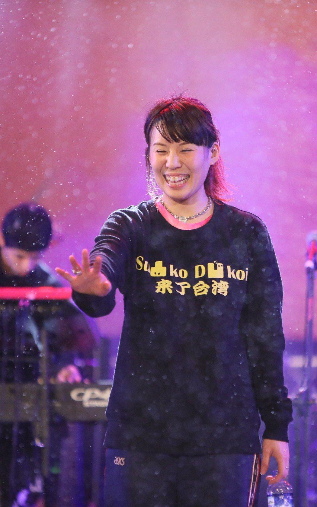 日本女團「su凸kod凹koi」首次參與台灣跨年。圖/新視紀提供