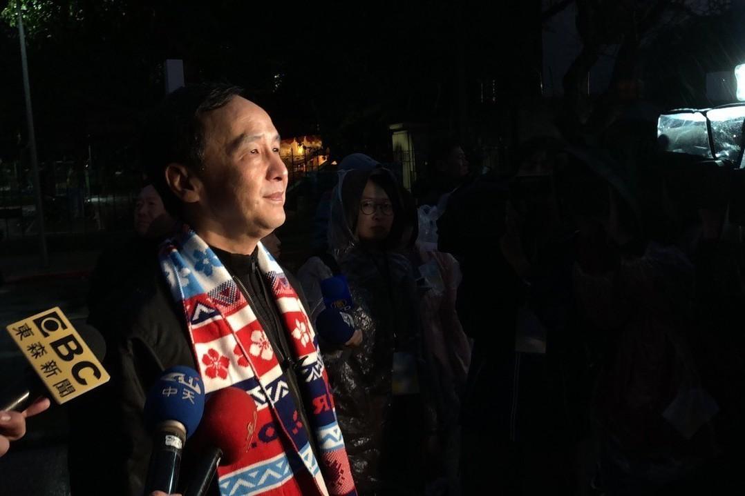 新北市前市長朱立倫到總統府參與升旗活動。記者張文馨/攝影