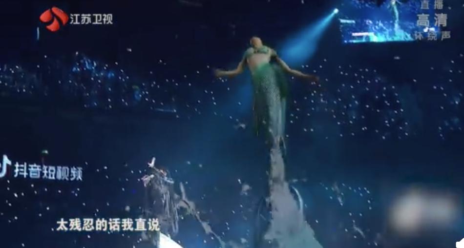 林俊傑跨年在江蘇衛視演出。圖/摘自微博