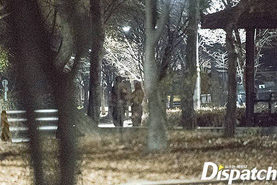 兩人在公園約會。圖/摘自Dispatch