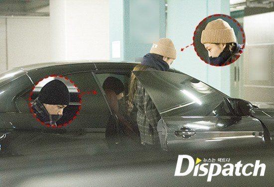 Jennie坐上KAI的車。圖/摘自Dispatch