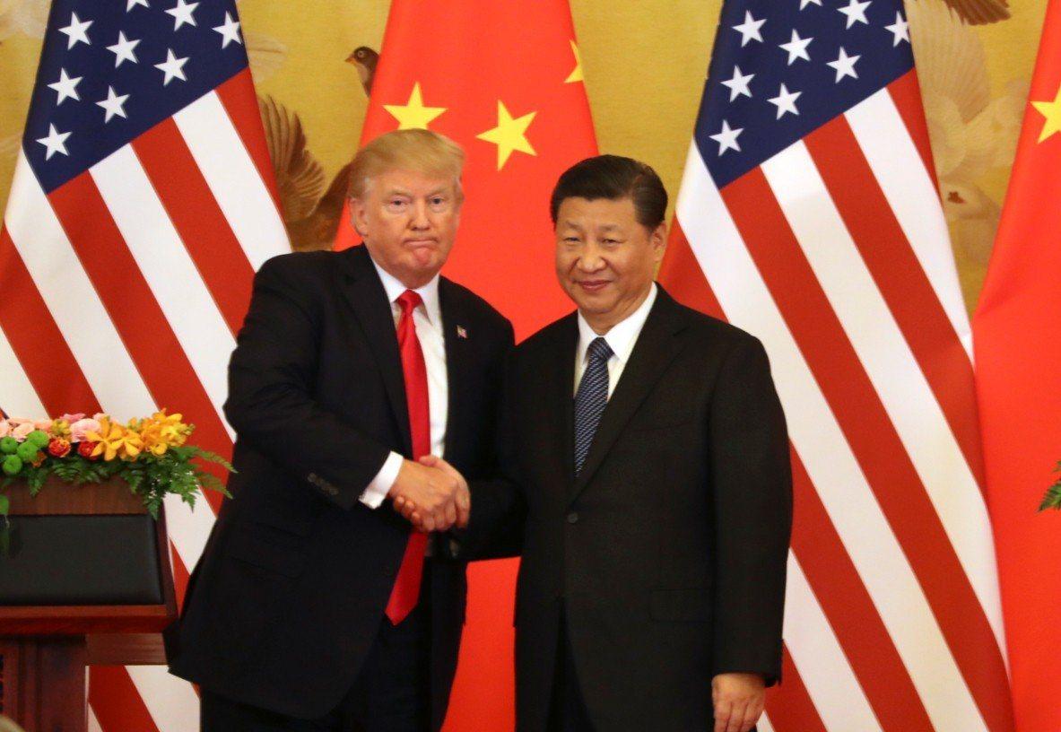美國總統川普與大陸國家主席習近平會面。(美聯社資料照)