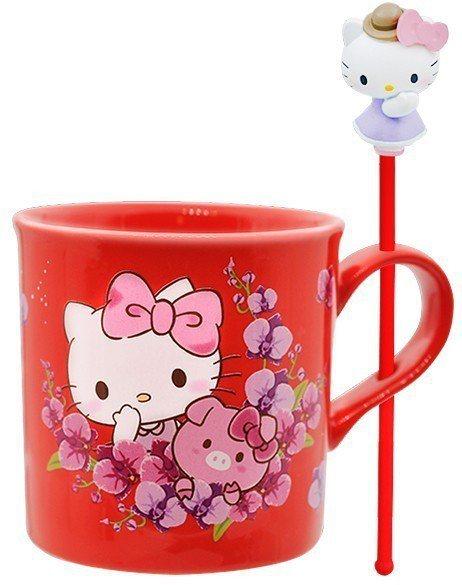 限量三麗鷗盆栽陶瓷杯組豬年特別款,集滿5點加149元或集滿150點免費送一組,首...