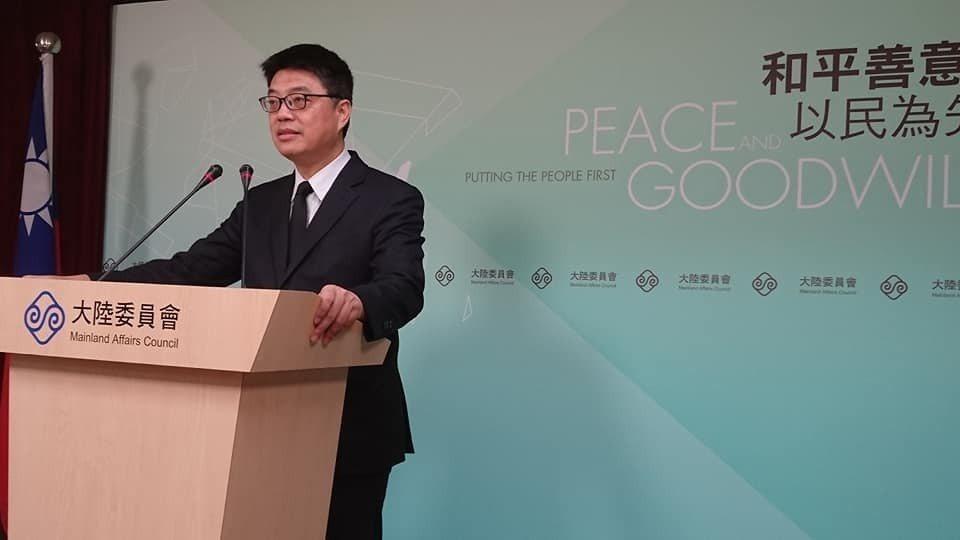 圖為陸委會發言人邱垂正。記者李仲維/攝影