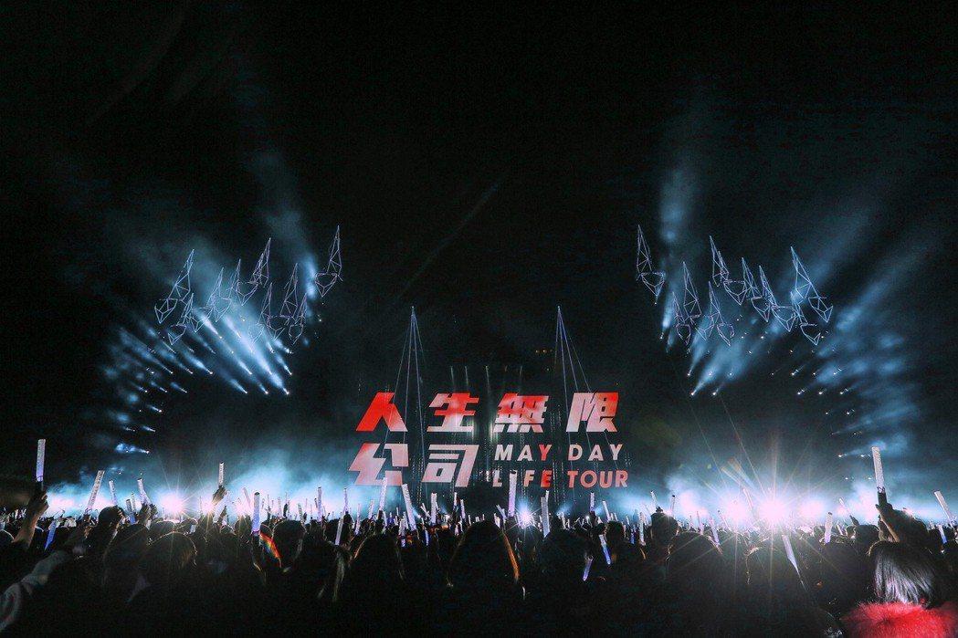 五月天元旦在台中開唱。圖/相信音樂提供
