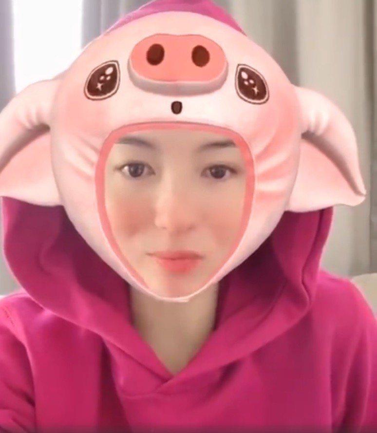 張柏芝自嘲自己是張柏「豬」。圖/翻攝自微博