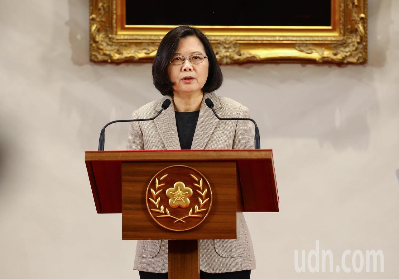 蔡英文總統在新年談話中,提及四個必須和三個防護網,對於中國國家主席習近平今天所發...