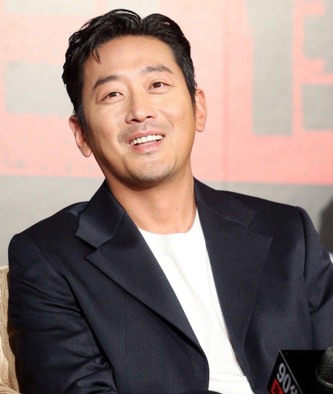 韓星河正宇出席「90分鐘末日倒數」新戲宣傳記者會。記者侯永全/攝影