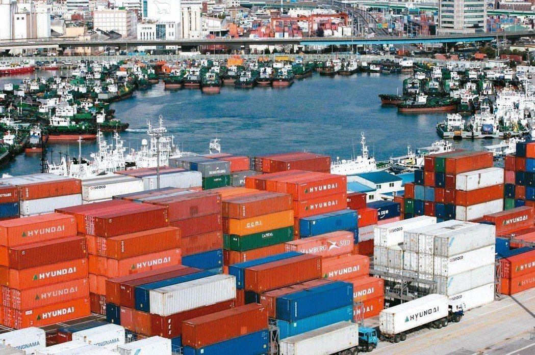 南韓出口衰退。 歐新社