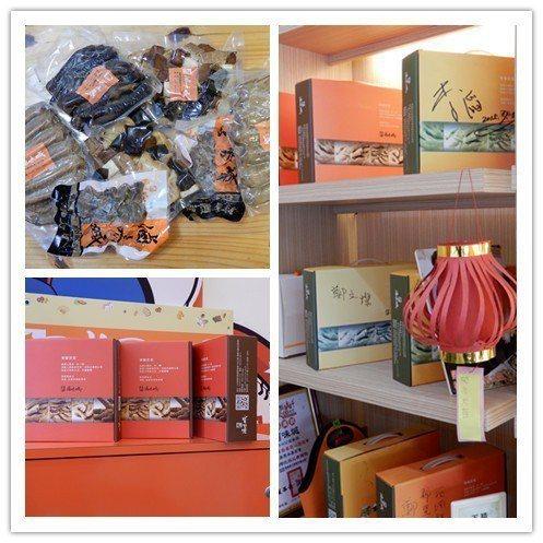 「滷味城」禮盒是最佳伴手禮,市長鄭文燦曾到訪簽名。 翁永全/攝影