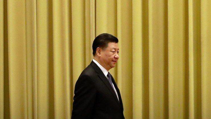 中國國家主席習近平發表對台談話。 法新社