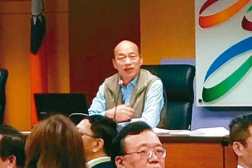 高市長韓國瑜(中)。 記者蔡孟妤/攝影