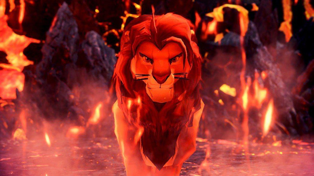 從兇惡的炎王龍變身帥氣的獅子王辛巴。