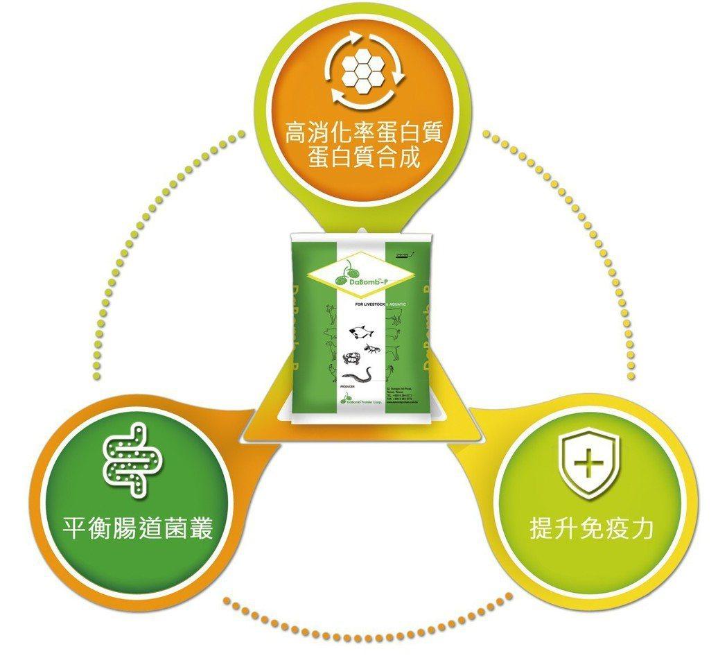 達邦蛋白董事長劉郁芬說:「達邦蛋白金三角,是以高消化率蛋白質、平衡腸道菌叢及提升...