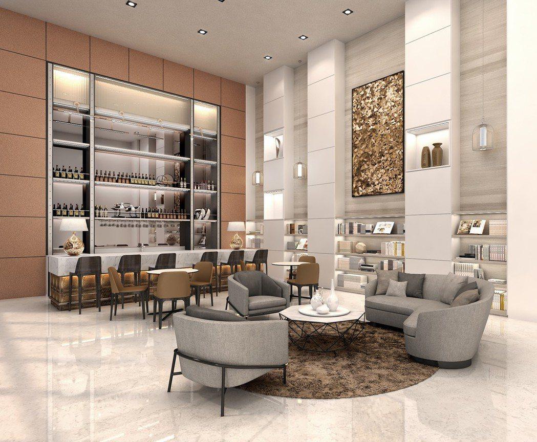 大麗城閱讀室(3D參考模擬圖)。圖片提供/城揚建設集團
