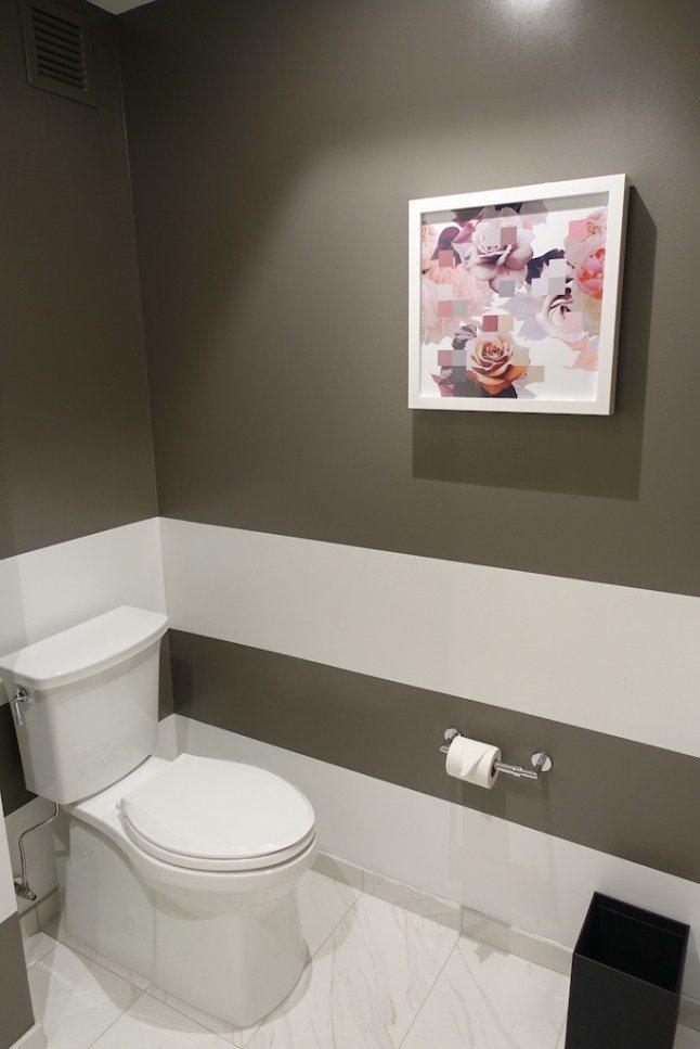 就連洗手間的畫作,也是呼應酒店的名稱 圖文來自於:TripPlus