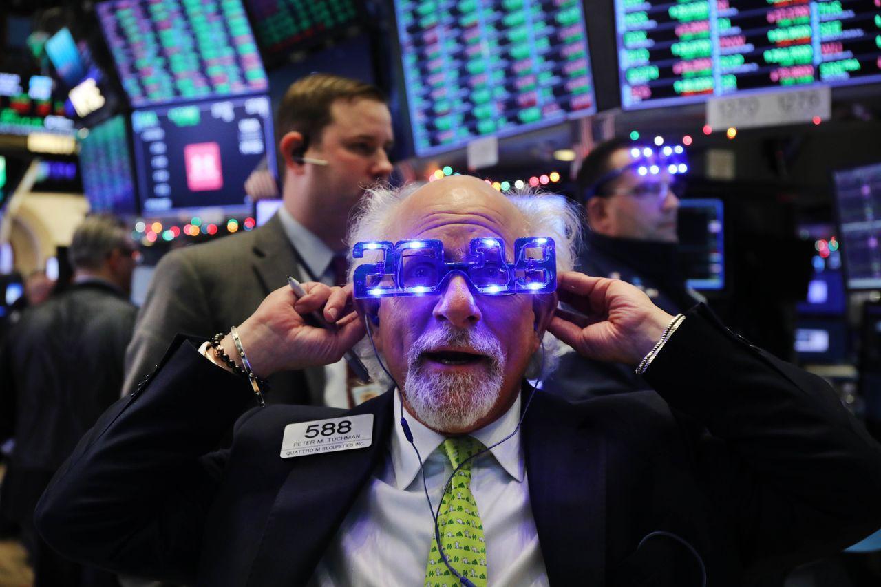 美股上漲封關迎接2019年。法新社