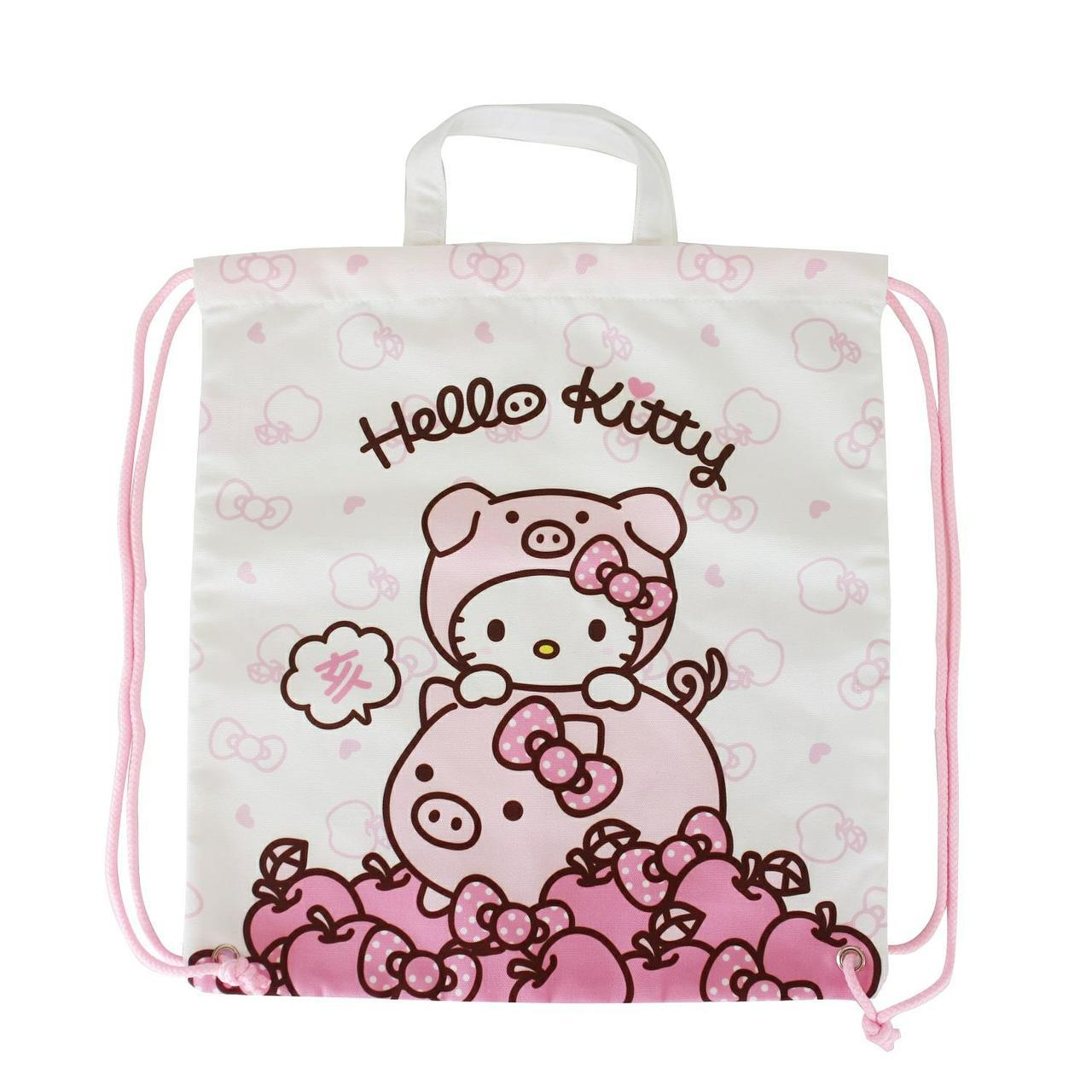 299元福袋外裝是Hello Kitty後背束口袋。 圖/7-ELEVEN提供