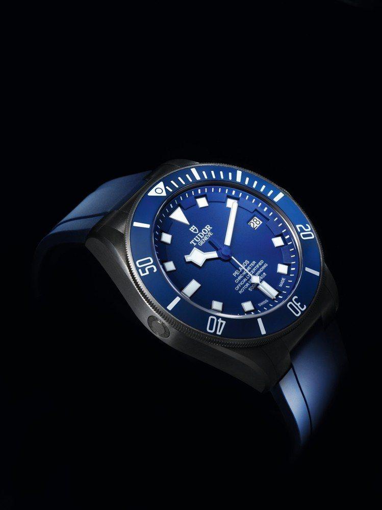 TUDOR Pelagos(帝舵領潛型)藍面機械潛水表,鈦金屬表殼、MT5612...