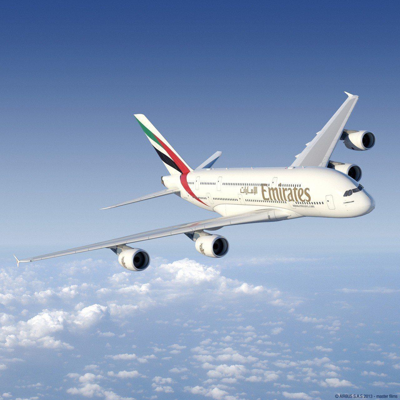 阿聯酋航空即日起推出全球航點商務艙及經濟艙優惠,最低來回7,000元起。圖/阿聯...