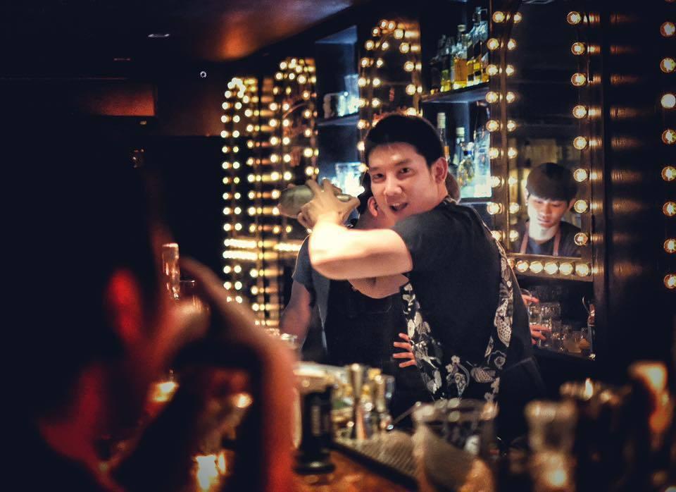 台北萬豪酒店邀請到Backstage Cocktail Bar名模調酒師客座。圖...