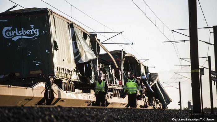 圖為發生事故的列車。路透