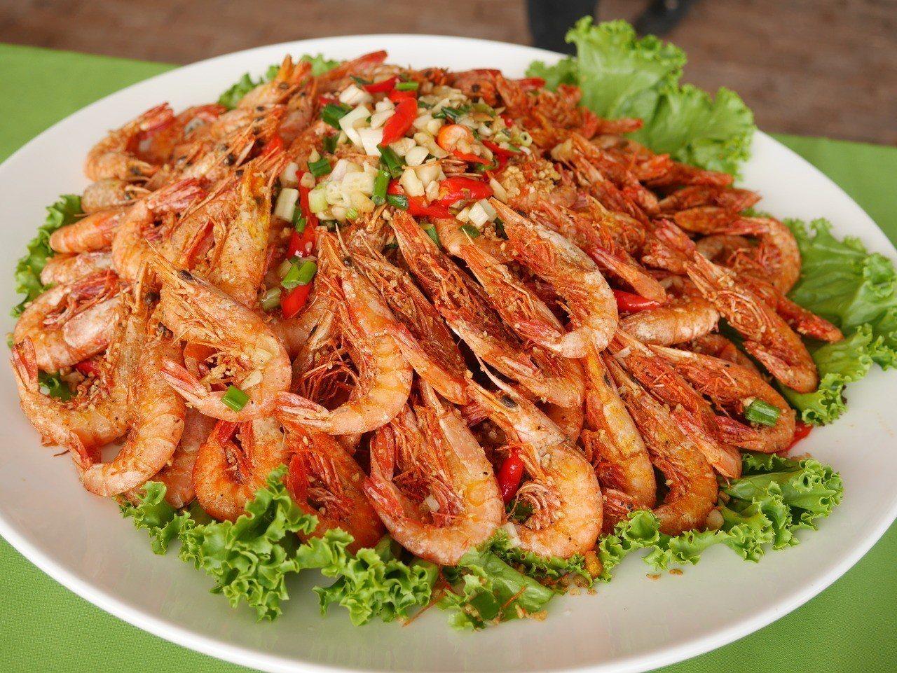 劍蝦是基隆的蝦三寶之一。記者吳淑君/攝影