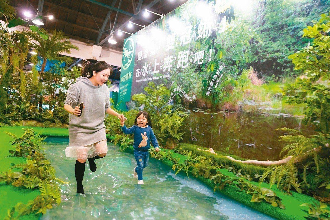 大人小孩都可體驗的「變變變!MOVE生物體驗展」,正在華山展出。 圖/聯合數位文...