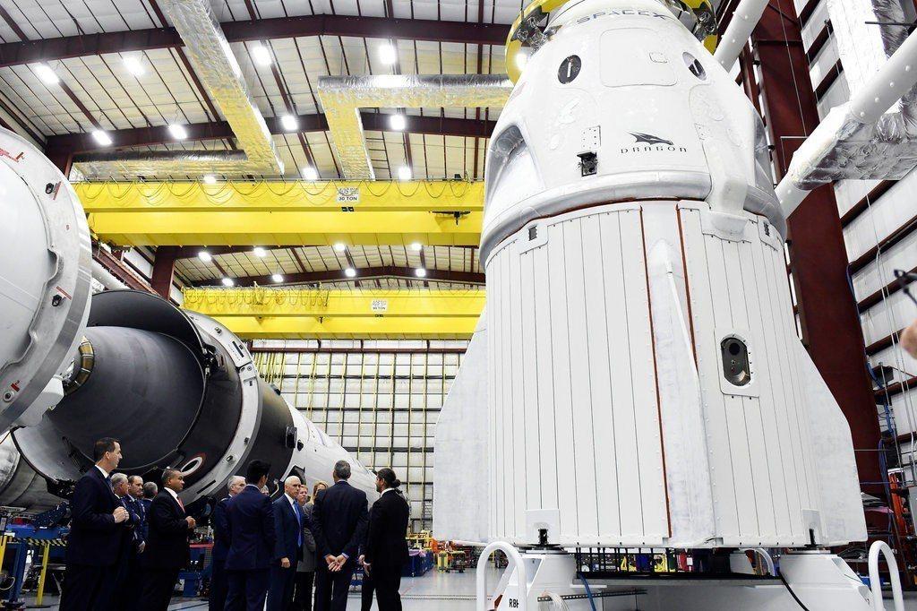 SpaceX的天龍號太空船。 (美聯社)