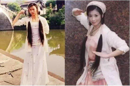 張晉(左)以前曾當過賈靜雯替身。圖/擷自微博