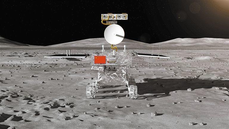 嫦娥四號任務月球車外觀設計構型。 (美聯社)