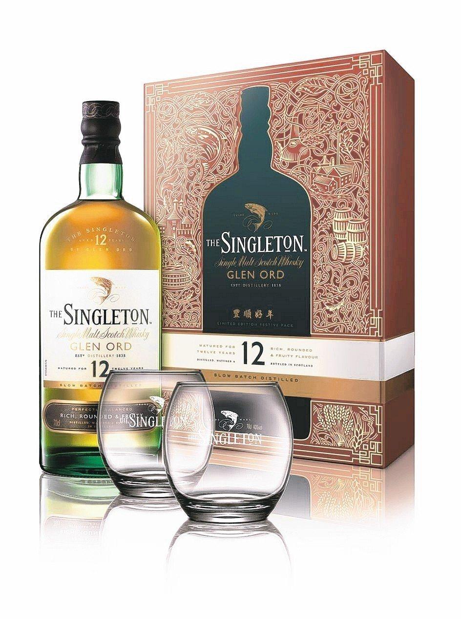 蘇格登12年單一麥芽威士忌禮盒。 DIAGEO/提供