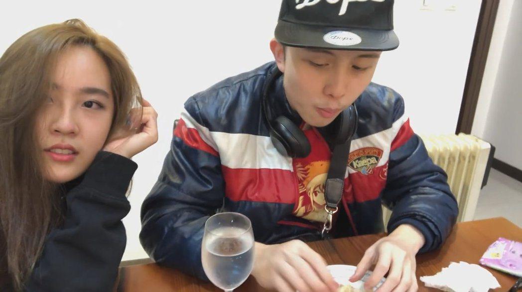 孫安佐與女性友人。 圖/擷自Youtube