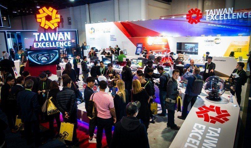 2018年CES展中,外貿協會執行的台灣精品、COMPUTEX d&i awar...