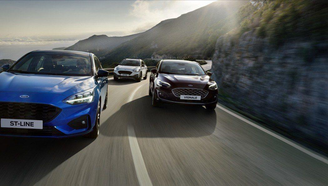 新世代Ford Focus擁有相當多的車型可以選擇。 摘自Ford
