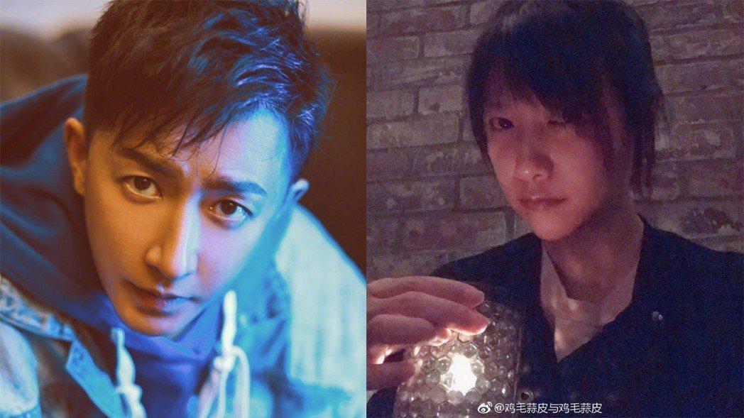 徐靜蕾(右)撞臉韓庚。圖/擷自微博