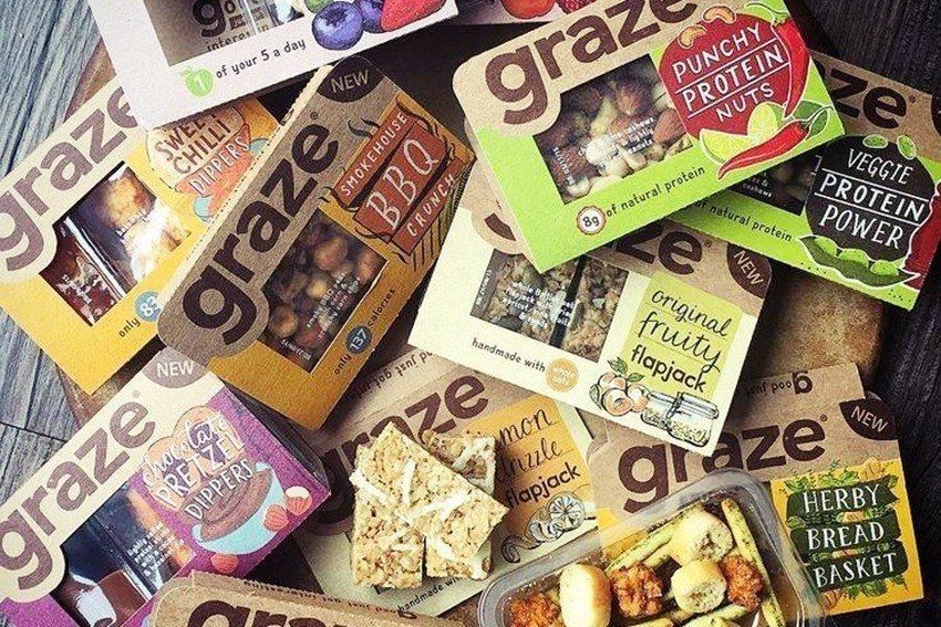 點心盒服務品牌「graze」瞄準高度接受網路消費、想嘗鮮、喜歡多一點時髦、也來點...