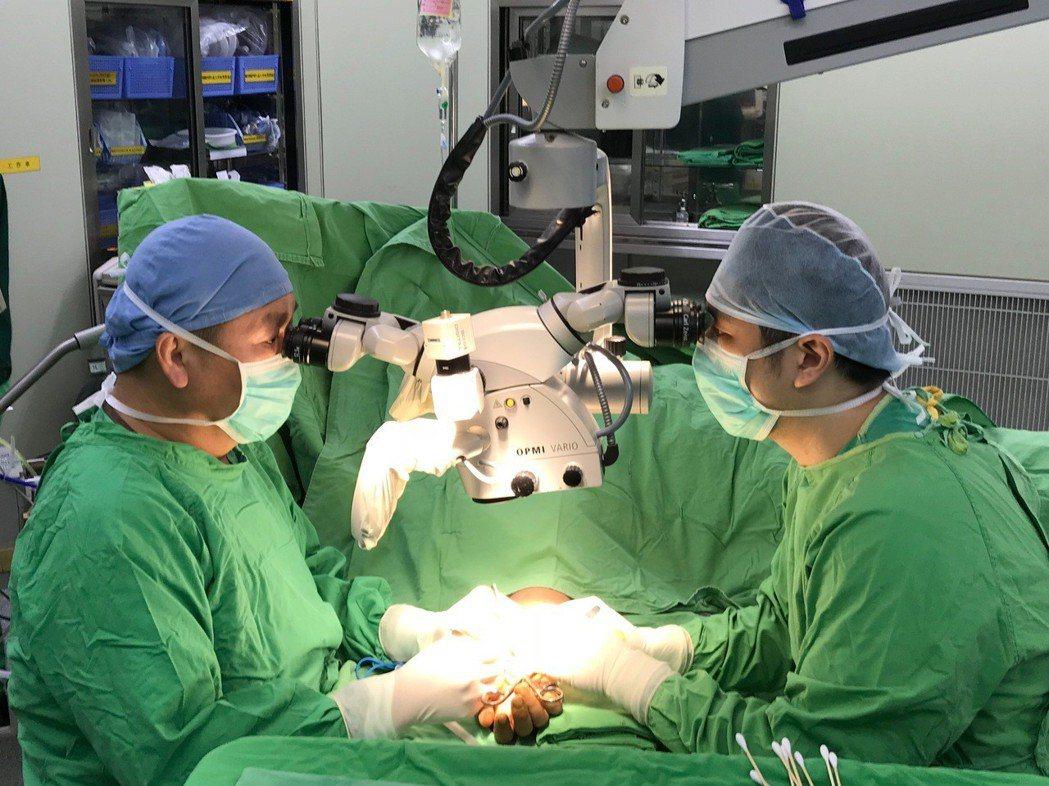 杜元坤(左)自學顯微手術,如今已是全球權威(右為學生薛宇桓醫師)。 圖╱摘自《世...