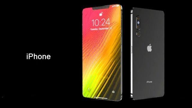 外媒曝光的2019年iPhone概念設計圖,將延續蘋果開創的瀏海螢幕風格。圖擷自...