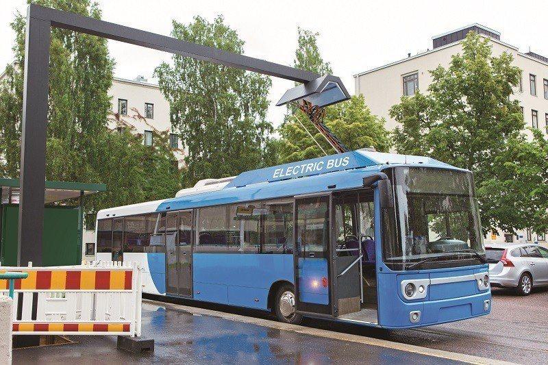 芬蘭的電動公車