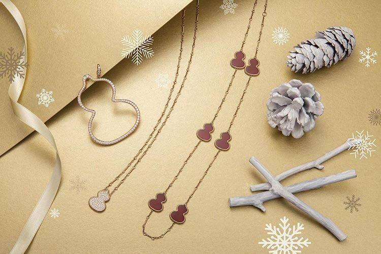 葫蘆造型的Wulu系列珠寶款式豐富、容易搭配。圖/取自IG @qeelinjew...
