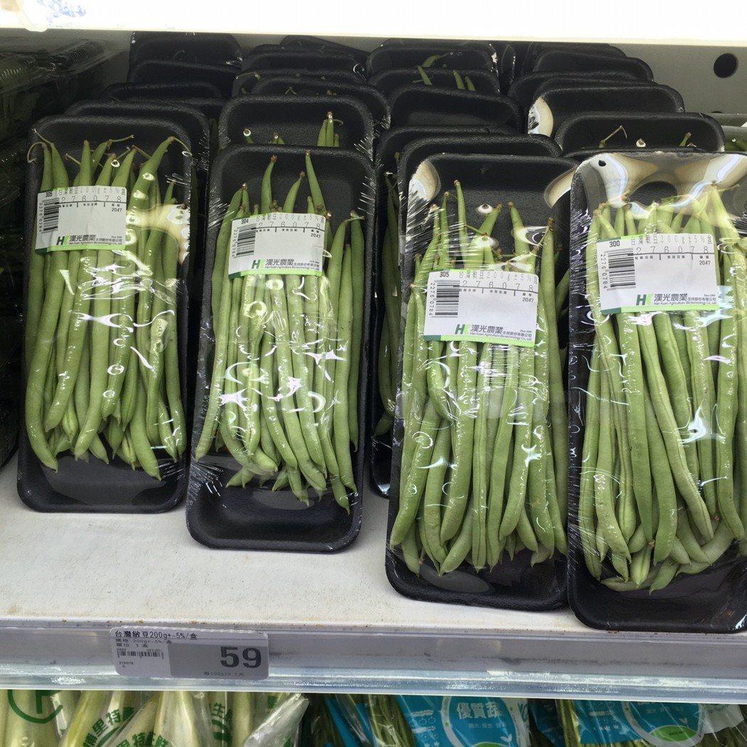 經檢驗殘留「殺蟎劑」的台灣敏豆。圖/台北市衛生局提供