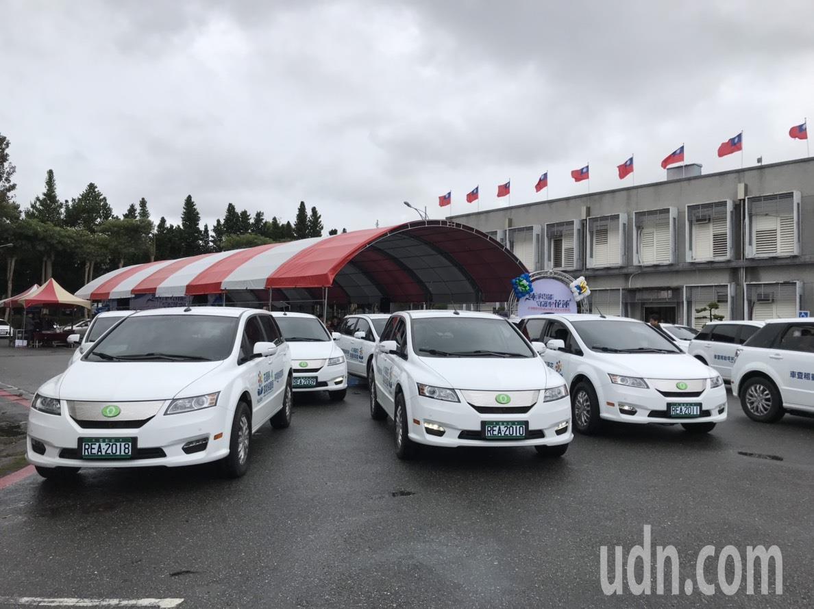 花蓮縣環保局租用15輛電動公務車,做為稽查車。記者王燕華/攝影