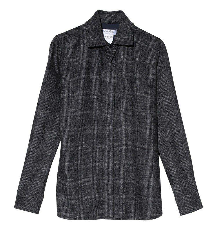 Max Mara灰色格子襯衫,售價26,500元。圖/Max Mara提供