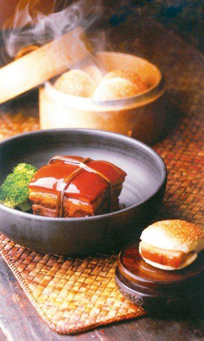 老蔣的秘菜「紹興陳醬東坡肉」。 圖/涵碧樓提供